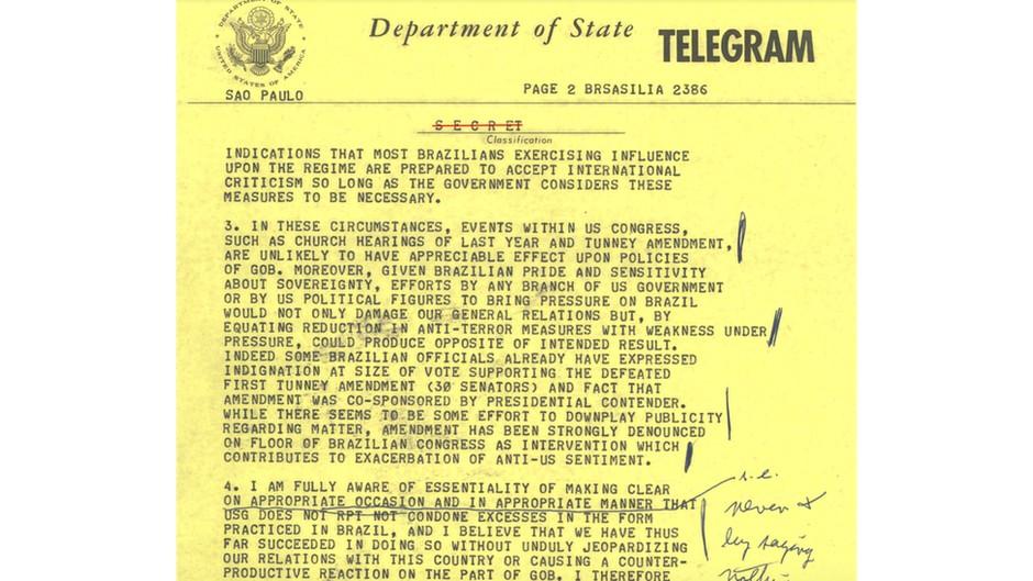 114819721embaixador - Biden entregou ao Brasil provas de torturas e mortes na ditadura; Bolsonaro nega