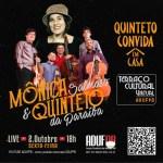 2020.10.02 Quinteto Convida em Casa com Mônica Salmaso - Quinteto da Paraíba toca com Mônica Salmaso em live nesta sexta-feira (2)