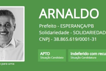 Justiça Eleitoral 'barra' registro de candidatura de ex-deputado em Esperança; veja o documento