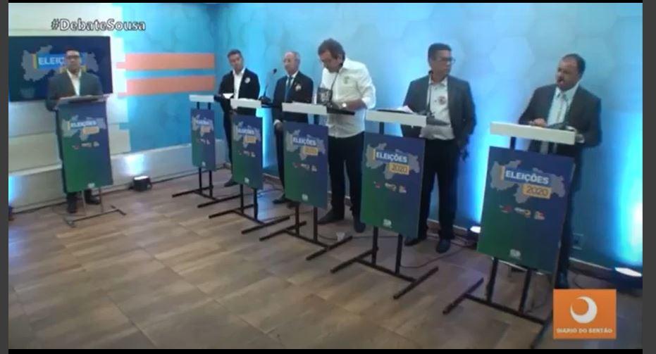 """Capturar 20 1 - """"Qual é a moral que o senhor tem..."""": em Sousa, debate é marcado por briga entre candidatos; confira"""