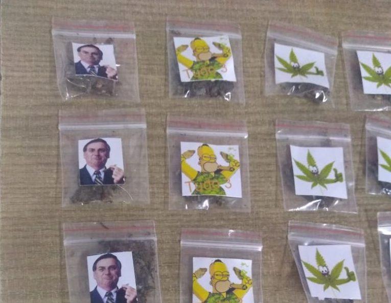 Papelotes 768x1024 1 e1602353265746 - 'BOLSOBECK': papelotes de maconha com fotos de Bolsonaro são apreendidos em João Pessoa