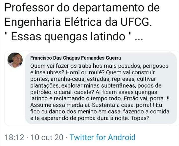 WhatsApp Image 2020 10 11 at 21.15.42 1 - UFCG abre procedimento para investigar professor suspeito de xingar mulheres na internet
