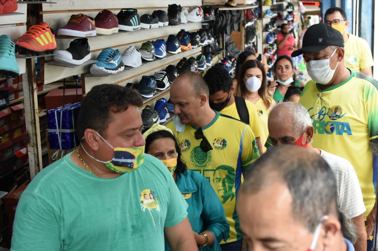 WhatsApp Image 2020 10 21 at 18.55.31 - Wallber Virgolino visita Shopping 4-400 e ouve queixas de comerciantes