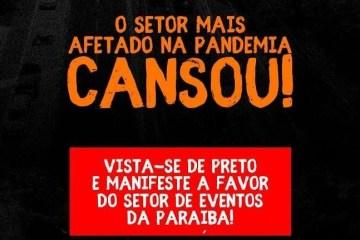Associação de Profissionais de Eventos da Paraíba realiza novo protesto nesta quinta-feira