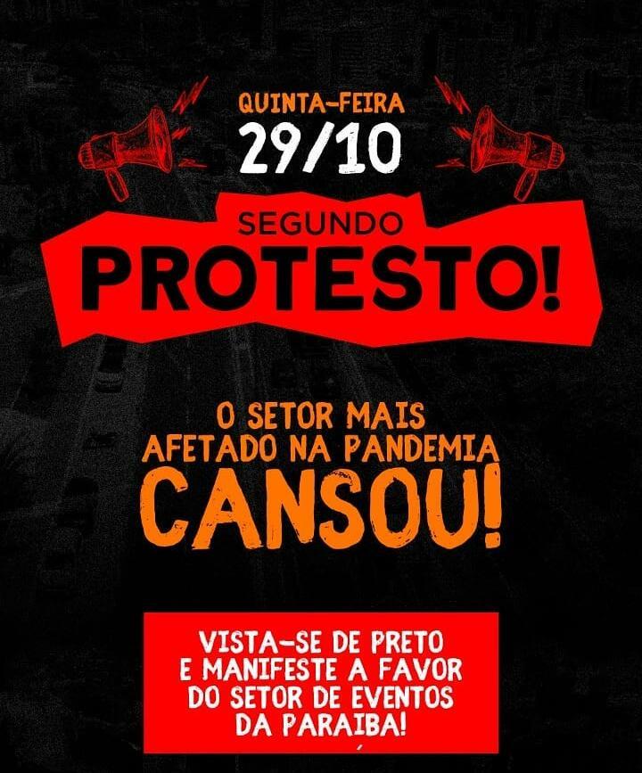 WhatsApp Image 2020 10 28 at 20.11.58 - Associação de Profissionais de Eventos da Paraíba realiza novo protesto nesta quinta-feira