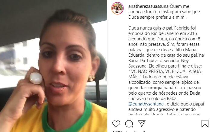 ana 1 - SE REPETE A CENA: Ana Thereza acusa ex-marido de alienação parental - VEJA VÍDEO