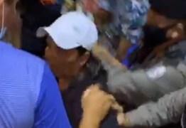 Irmã do candidato Ademir Morais invade ato de campanha do adversário e é retirada pela polícia, em Santa Luzia – VEJA VÍDEO