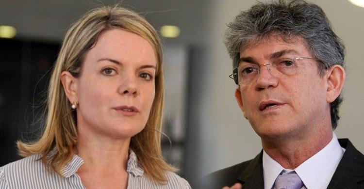gleise e ricardo - ESQUERDA DIVIDIDA: sem êxito na Justiça Eleitoral, Gleisi mantém apoio político a Ricardo