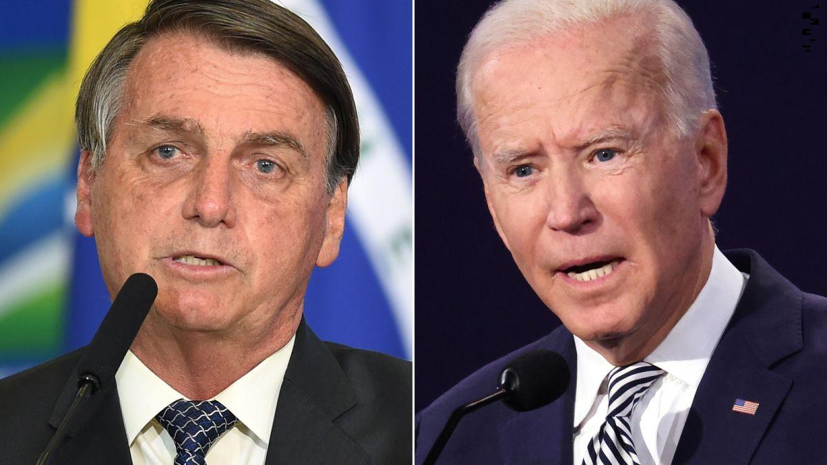 https   cdn.cnn .com cnnnext dam assets 200930124556 bolsonaro biden split - Bolsonaro deve ter primeiro encontro com Joe Biden em abril, para tratar da Amazônia