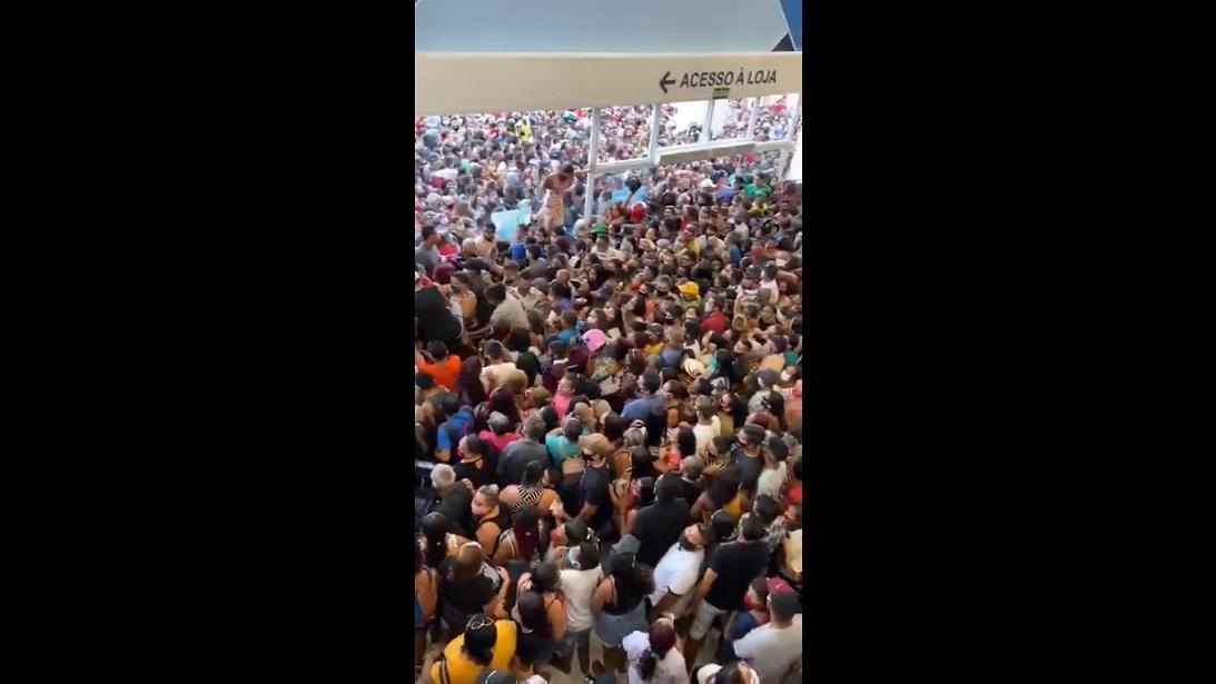 inauguracao havan - Inauguração causa aglomeração e loja é fechada no mesmo dia no Pará - VEJA VÍDEO