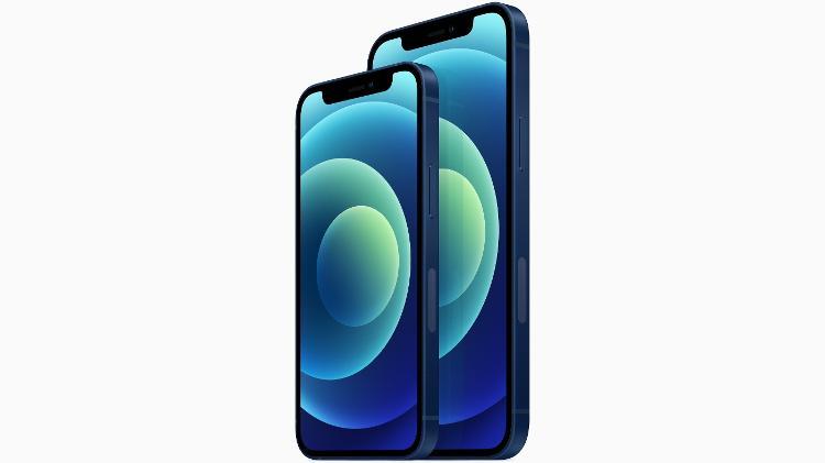 iphone 12 mini a esquerda e iphone 12 1602616880679 v2 750x421 - Custando cerca de R$ 6 mil novo Iphone é lançado nos Estados Unidos e tem 5G como novidade
