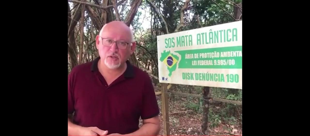 marcos henriques video print - Marcos Henriques denuncia desmatamento em área de proteção ambiental em João Pessoa - VEJA VÍDEO