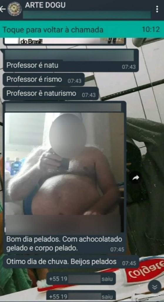 print  - 'ERRO DE ENVIO': professor envia foto nu para grupo de alunos e afirma ser naturista; confira