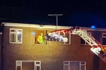 Homem obeso é retirado de casa por guindaste para ser tratado em hospital