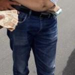 DINHEIRO - FISCALIZAÇÃO: Irmão de prefeito candidato a reeleição é preso com dinheiro na cueca