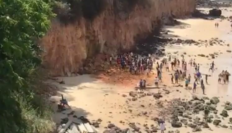 FALESIA PIPA - Após morte de família, técnicos inspecionam falésias na Praia de Pipa