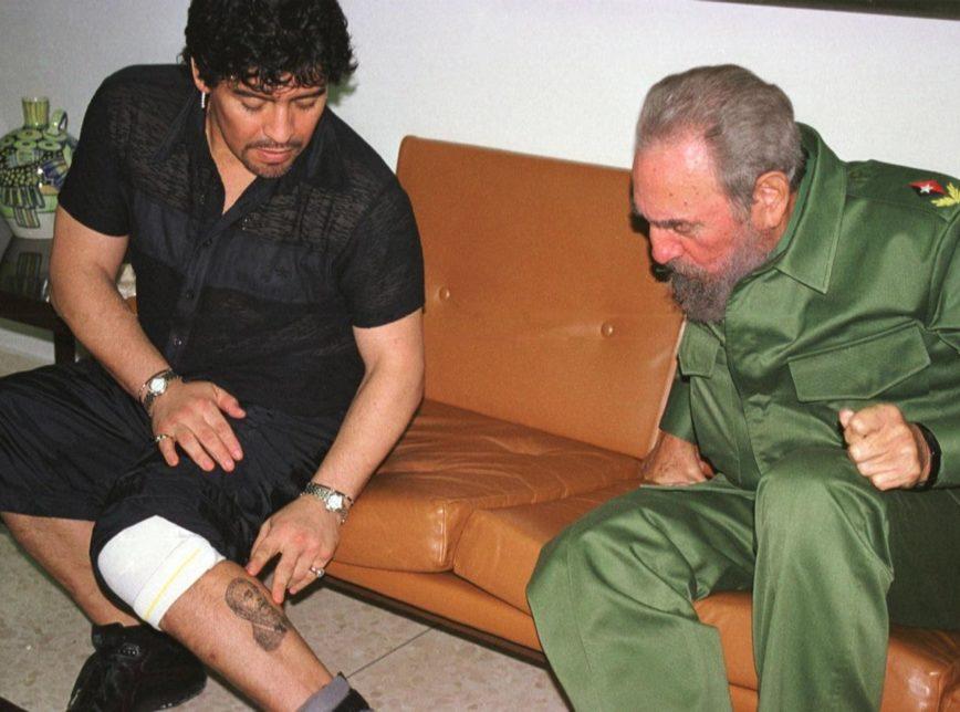 """Fidel Maradona - Maradona tinha tatuagens de Che Guevara e Fidel e se disse """"soldado"""" de Lula e Dilma"""