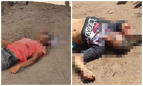 Mortos - Dois homens são executados com requintes de crueldade em Pedras de Fogo - VEJA VÍDEO