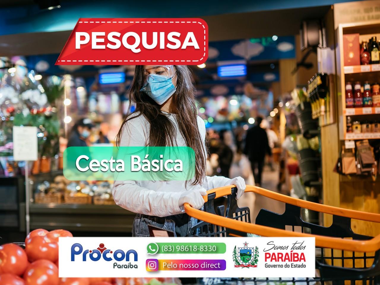PESQUISA PROCON PB - Procon-PB realiza pesquisa de cestas básicas em supermercados de João pessoa