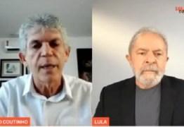 """""""Mentiras não vão tirar Ricardo da política"""" afirma Lula, em live ao lado do candidato a prefeitura de João Pessoa"""