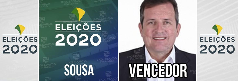 Sousa 1 - Fábio Tyrone é reeleito prefeito de Sousa