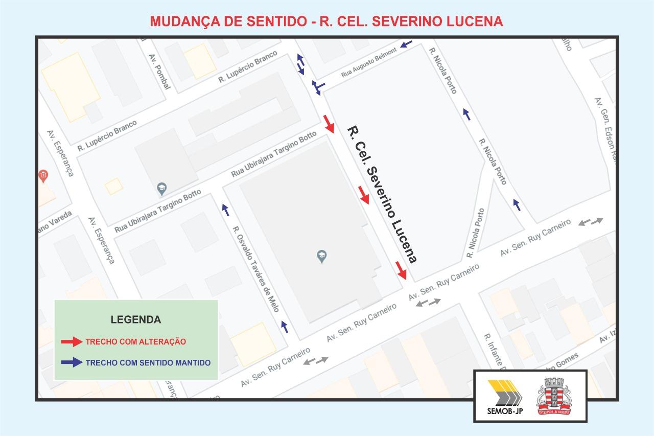 WhatsApp Image 2020 11 09 at 15.41.02 - Trecho da Rua Cel. Severino de Lucena tem sentido de circulação invertido a partir desta terça (10)