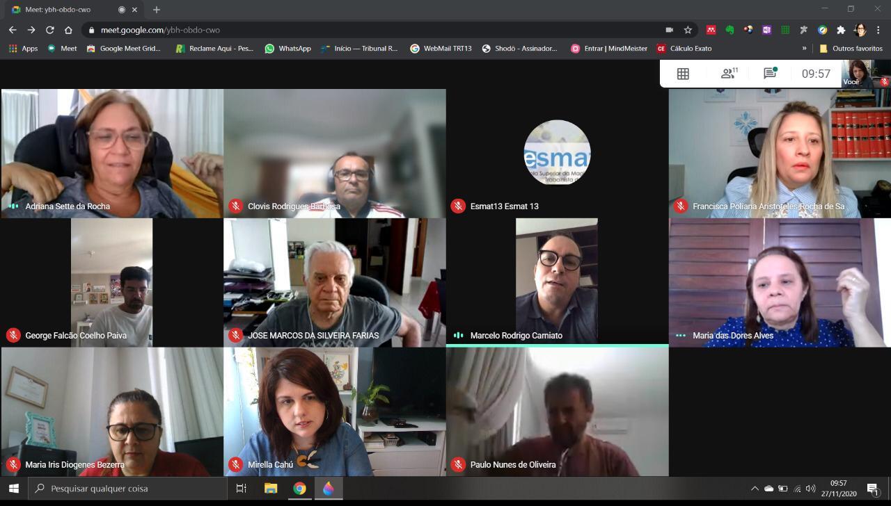 WhatsApp Image 2020 11 27 at 18.09.07 - Atual direção reeleita: Amatra 13 realiza primeira eleição telepresencial de diretoria