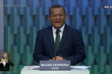 DEBATE TV CABO BRANCO: Nilvan promete concurso público para a guarda municipal