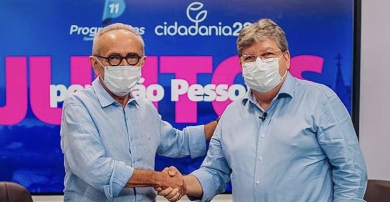 cicero e joao2 - Cícero Lucena é primeiro prefeito eleito em JP com apoio do Governo desde 2000