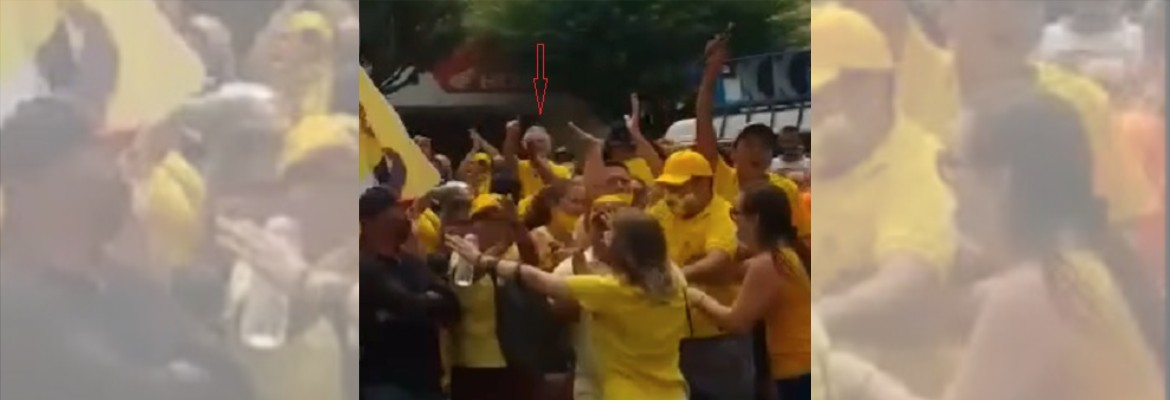 confusao buba - Deputado Buba Germano entra em confronto com militantes do prefeito durante adesivagem em Picuí - VEJA VÍDEO