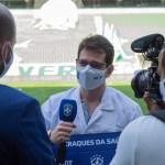 hospital - Iniciativa da CBF: Hospital Metropolitano recebe ambulância do programa Craques da Saúde