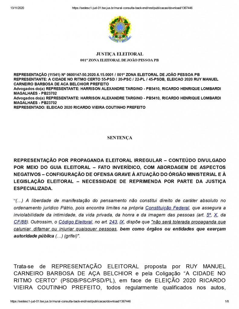 joao pessoa 1 2 - Justiça eleitoral determina que Ricardo Coutinho exclua propaganda com acusações de que Gaeco teria manipulado áudios de delações da Operação Calvário