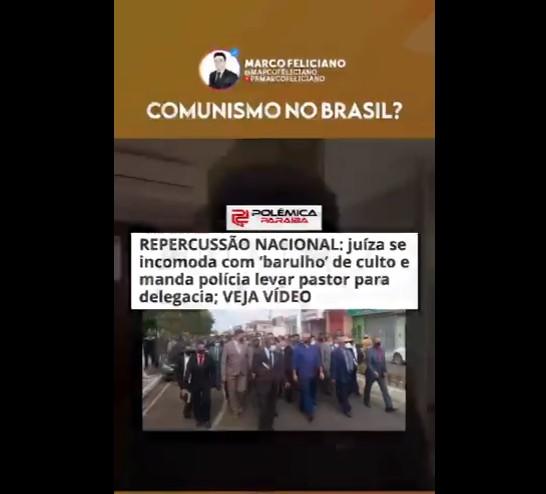 marco feliciano - Deputado Marco Feliciano repercute notícia do Polêmica Paraíba: 'Abuso de autoridade contra pastor'; VEJA VÍDEO