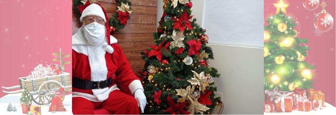papai noel mascara - Em tempos de pandemia, o Papai Noel é virtual