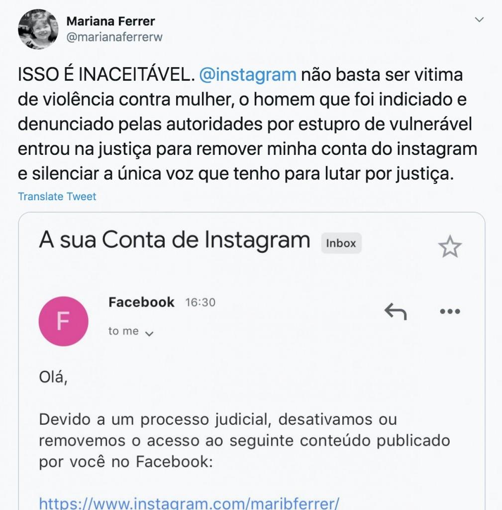 print 1 - Caso Mariana Ferrer: julgamento termina com sentença inédita de 'estupro culposo' e advogado humilhando jovem; entenda