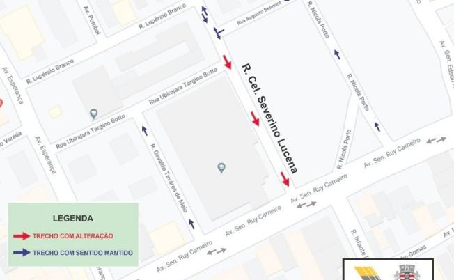 rua - Trecho de via em Tambaú muda de sentido a partir desta terça (10)