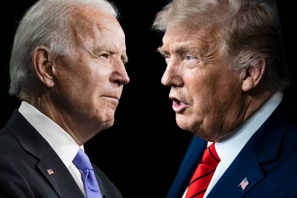 trump biden montagem - TRUMP x BIDEN: EUA decide próximo presidente hoje, em eleição histórica; fique por dentro