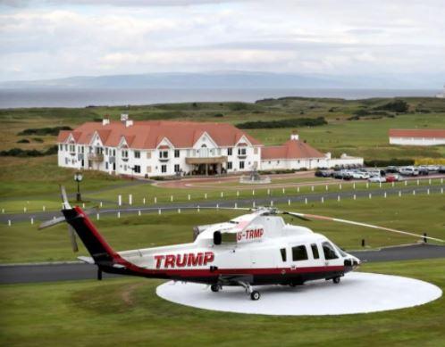 trump - DE LUXO: Donald Trump coloca helicóptero à venda