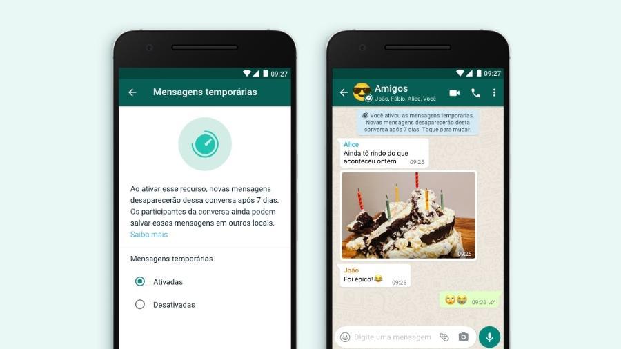 wpp temporárias - WhatsApp lança mensagens temporárias que desaparecem após sete dias; saiba como usar