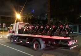 Polícia Militar apreende motocicletas usadas em 'rolezinho' no Cabo Branco; VEJA VÍDEO