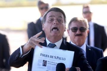 bolsonaro contesta folha - Partido contesta no STF monitoramento de parlamentares e jornalistas pelo Governo Bolsonaro