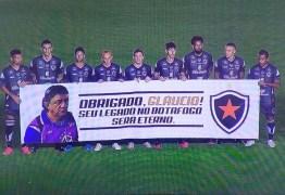 Botafogo-PB homenageia Glaucio Lima na final da Pré-Copa do Nordeste