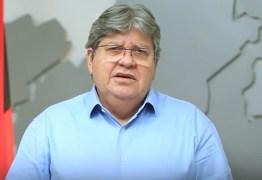 João Azevêdo pede para população intensificar cuidados contra o coronavírus e assegura plano de vacinação – VEJA VÍDEO
