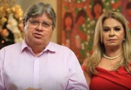 Governador e primeira-dama desejam boas festas a todos os paraibanos e deixam mensagem: 'nada vale mais do que a vida' – VEJA VÍDEO