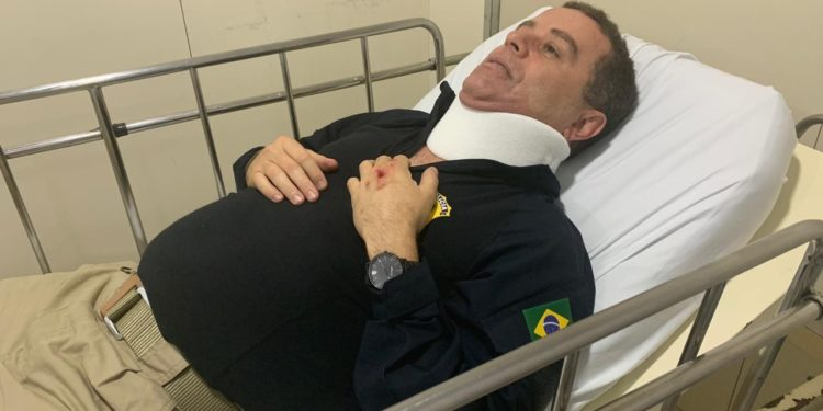 joão almeida - Candidato à prefeitura de João Pessoa, João Almeida bate a cabeça em acidente de trabalho