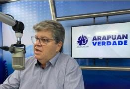 João Azêvedo diz que a PB já tem um plano montado para atender qualquer vacina, e que o momento não é de discutir política