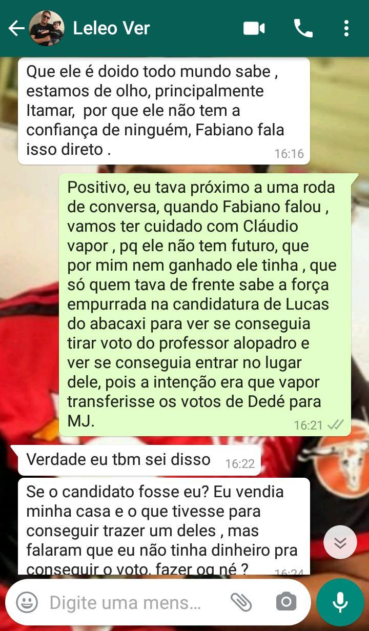 pedras de fogo 6 - PEDRAS DE FOGO: vazam prints de vereador sugerindo compra de apoio de colegas de oposição para eleição