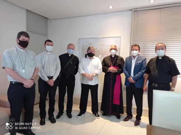 138682126 169292134980070 6972563675116599153 n - Deputado Tião Gomes participa de reunião com governador e bispo diocesano de Guarabira para tratar sobre novas obras