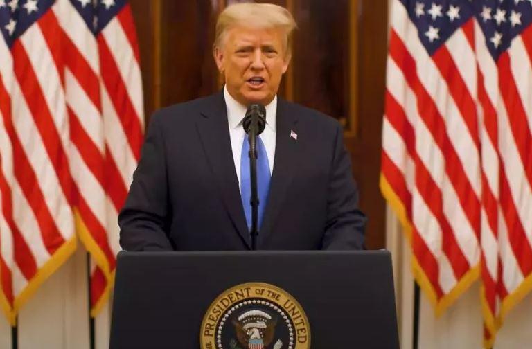Capturar.JPGaa  1 - Trump se despede da Casa Branca, deseja sorte a Biden e condena violência