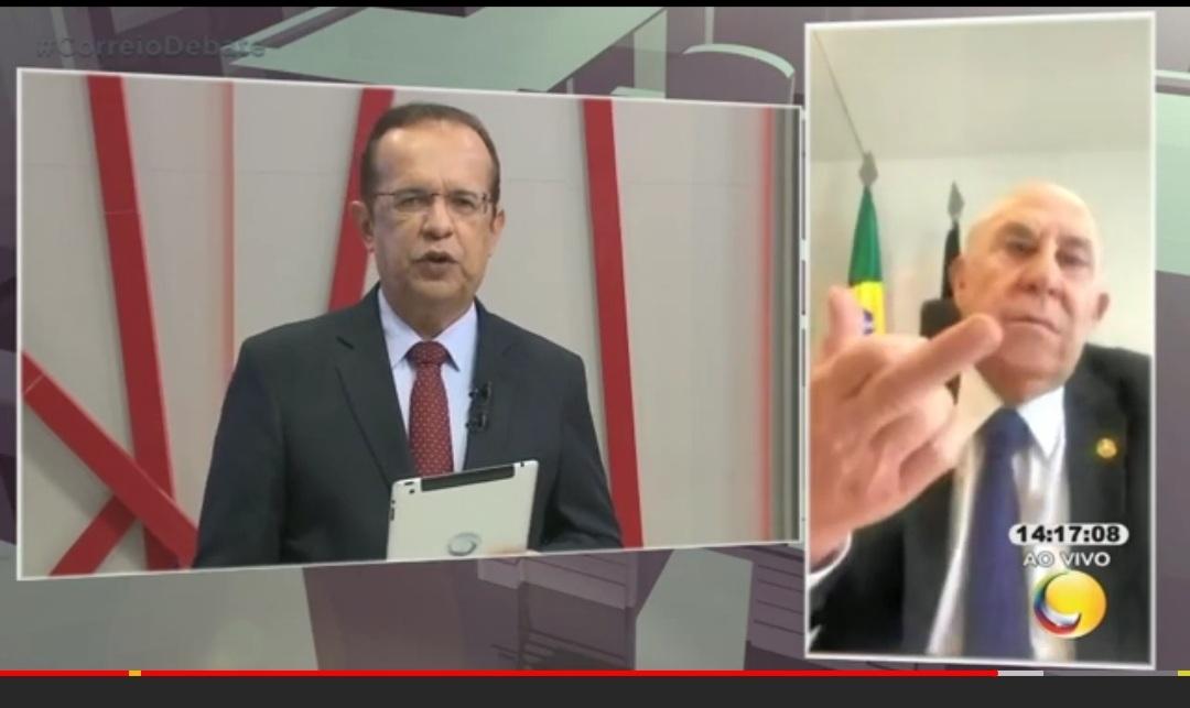 Screenshot 20210120 154208 YouTube - Ney Suassuna mostra o dedo ao falar sobre saúde de José Maranhão e justifica: 'foi para o assessor'; VEJA VÍDEO